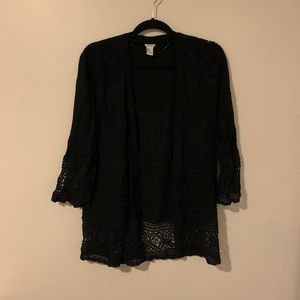 Black Boho Lace Cover Up